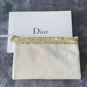 NIB authentic Dior J'adore golden linen pouch
